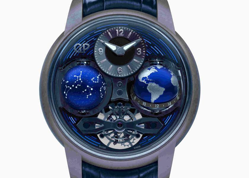 """〈ジラール・ペルゴ〉の""""天体時計""""はリアルすぎる立体感が別格の貫録!"""