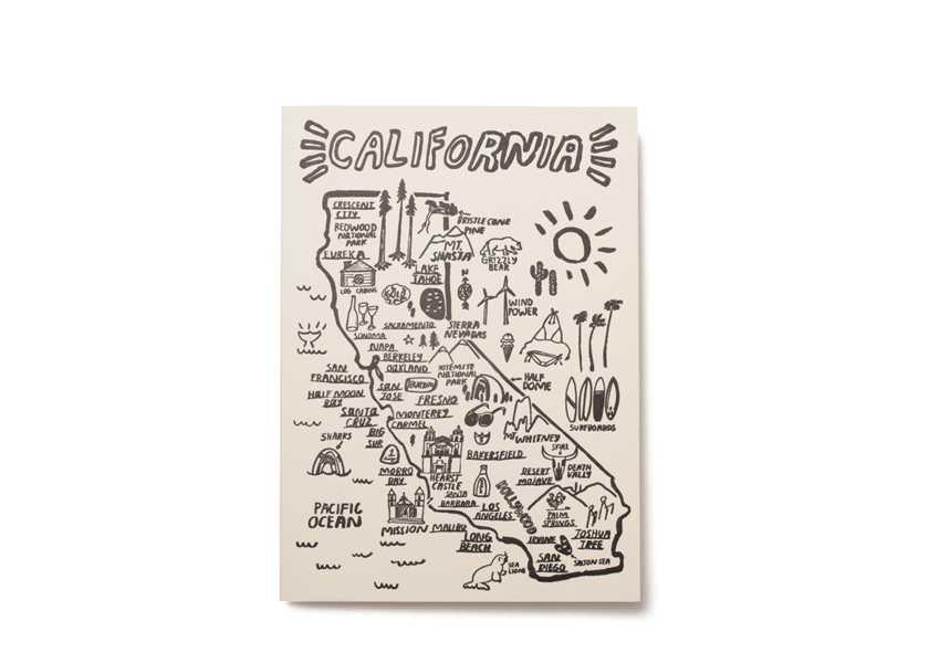 """日本ではまず手に入らないからLA土産にコレはどう? Vol.52〈ピープル アイヴ ラヴド〉の """"カリフォルニアマップカード"""""""
