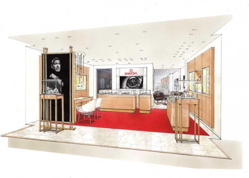 さらに広くラグジュアリーな空間に!〈オメガ〉伊勢丹新宿店が移転オープン!