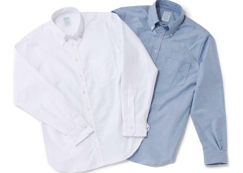〈ブルックス ブラザーズ〉の傑作ボタンダウンシャツに胸ポケが復活!