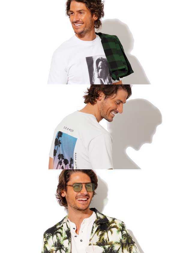 日焼け肌が際立つ白と淡色Tシャツ!