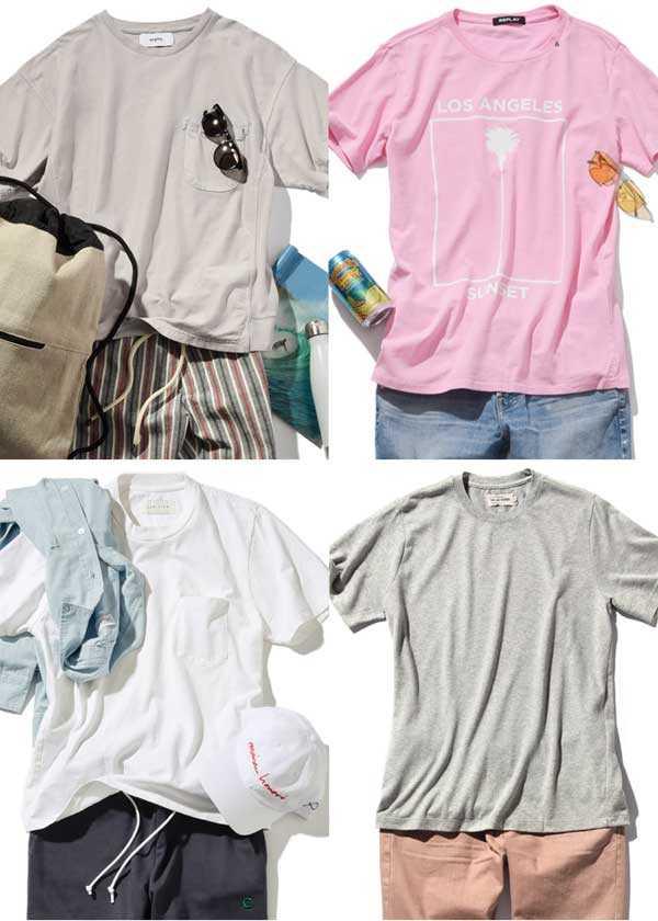 マンネリを回避! 夏のTシャツコーデ集
