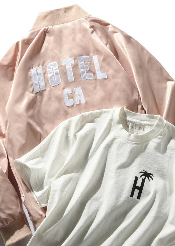 〈ホテル 1171〉のサテンブルゾン&Tシャツ