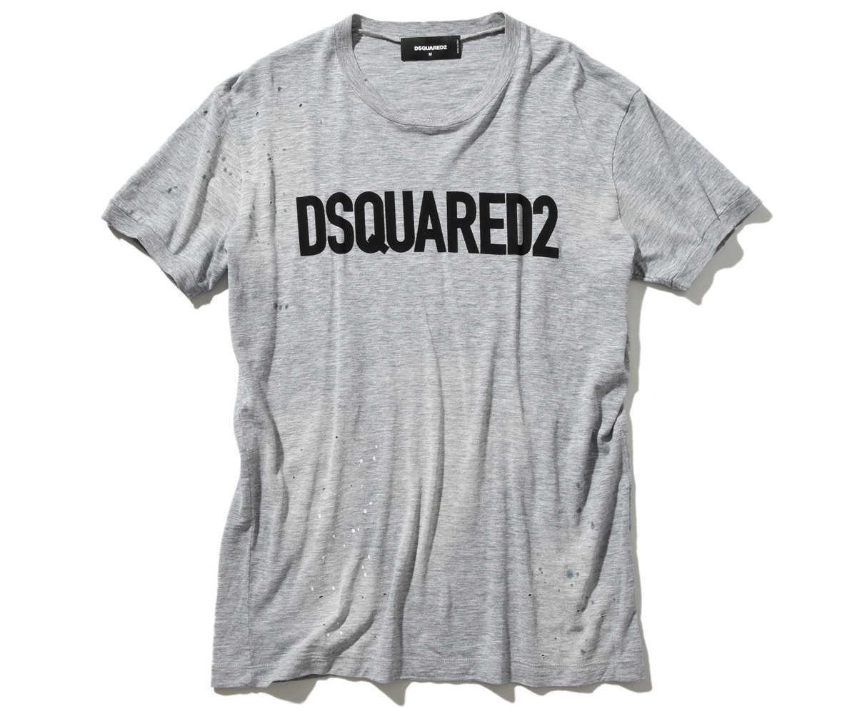 ダメージロゴ クルーネックロゴTシャツ