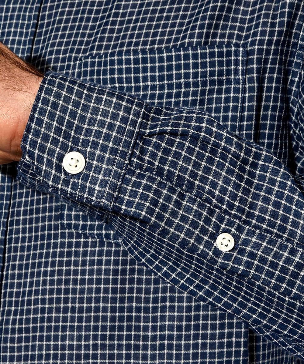 ダブルフェイスプレイドシャツ
