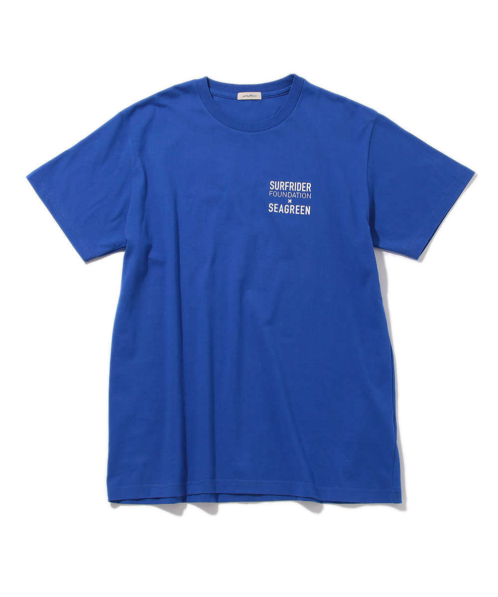 シーグリーン×サーフライダー クルーネックTシャツ