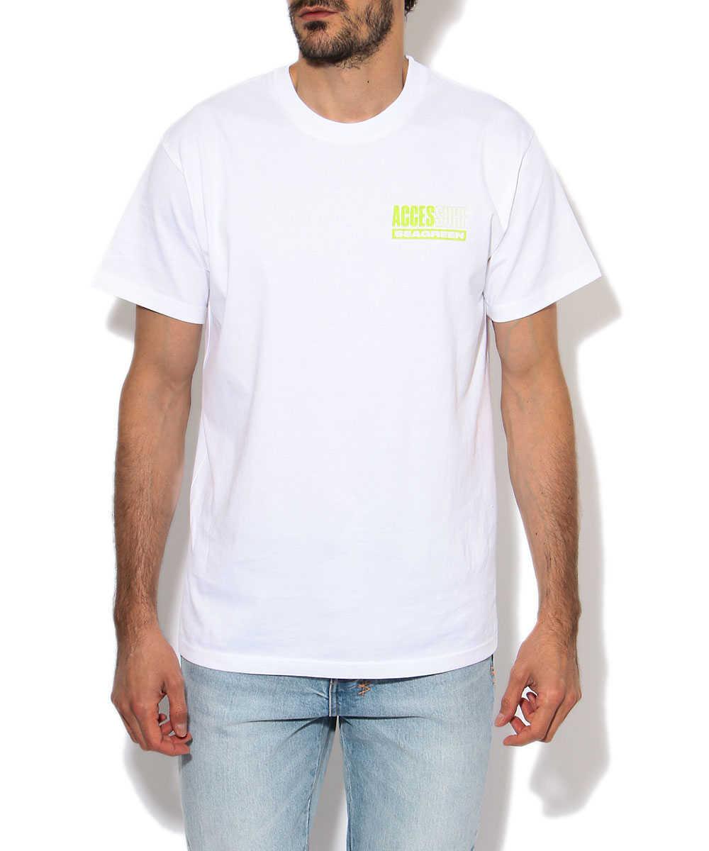 シーグリーン×アクセスサーフ クルーネックTシャツ