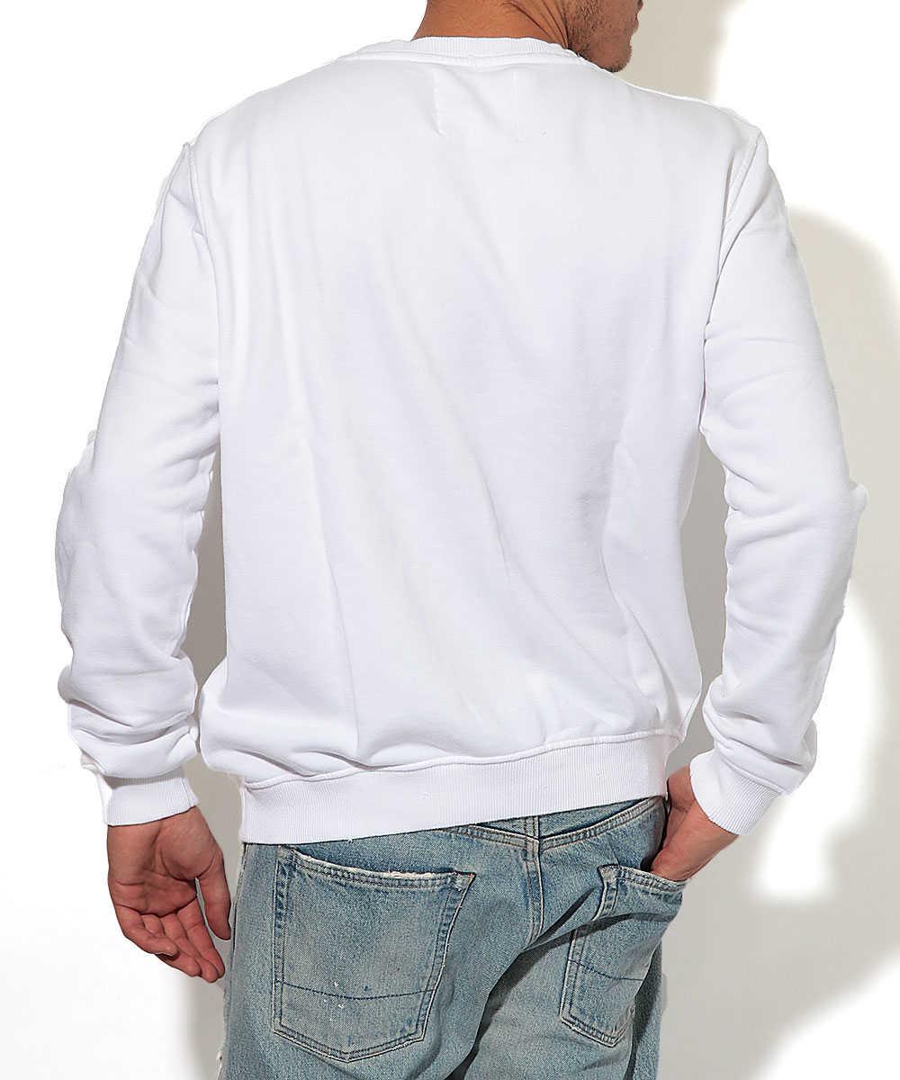 クルーネックプリントスウェットシャツ