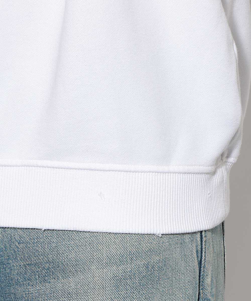 ビーズクルーネックスウェットシャツ