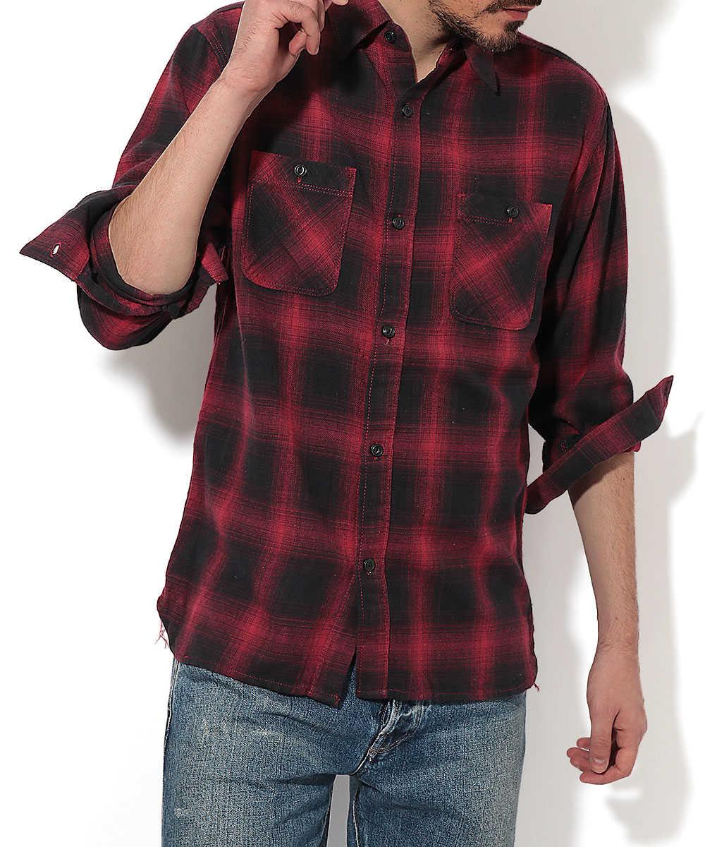 ライトフランネルワークシャツ
