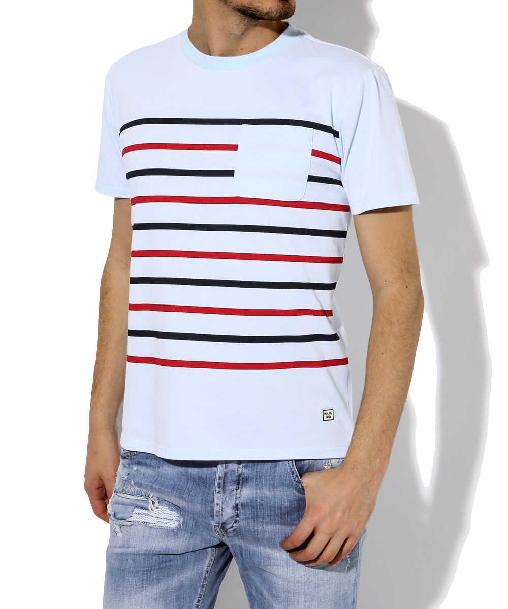 ボーダーポケットTシャツ