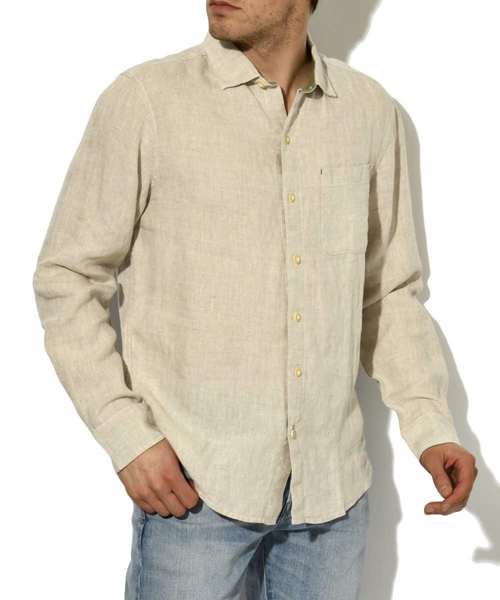 バックプリントリネンシャツ