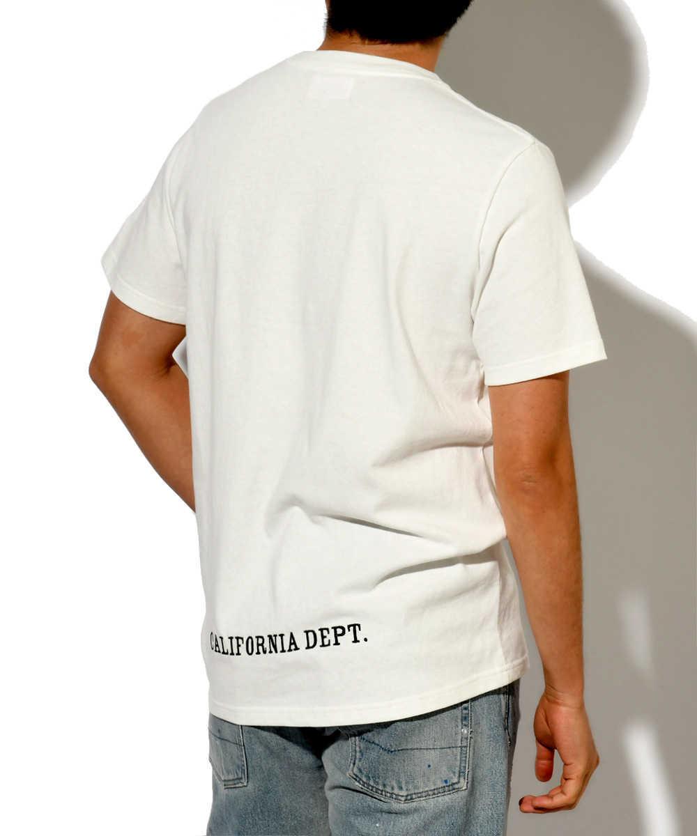 【カリフォルニアデプト】クルーネックプリントTシャツ
