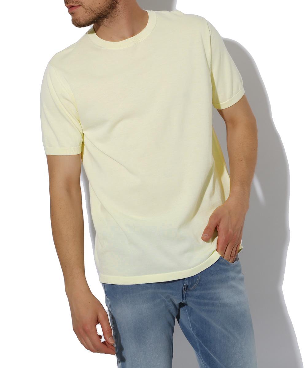 クルーネックニットTシャツ