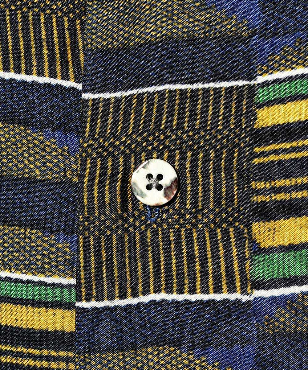 シルク開襟半袖シャツ