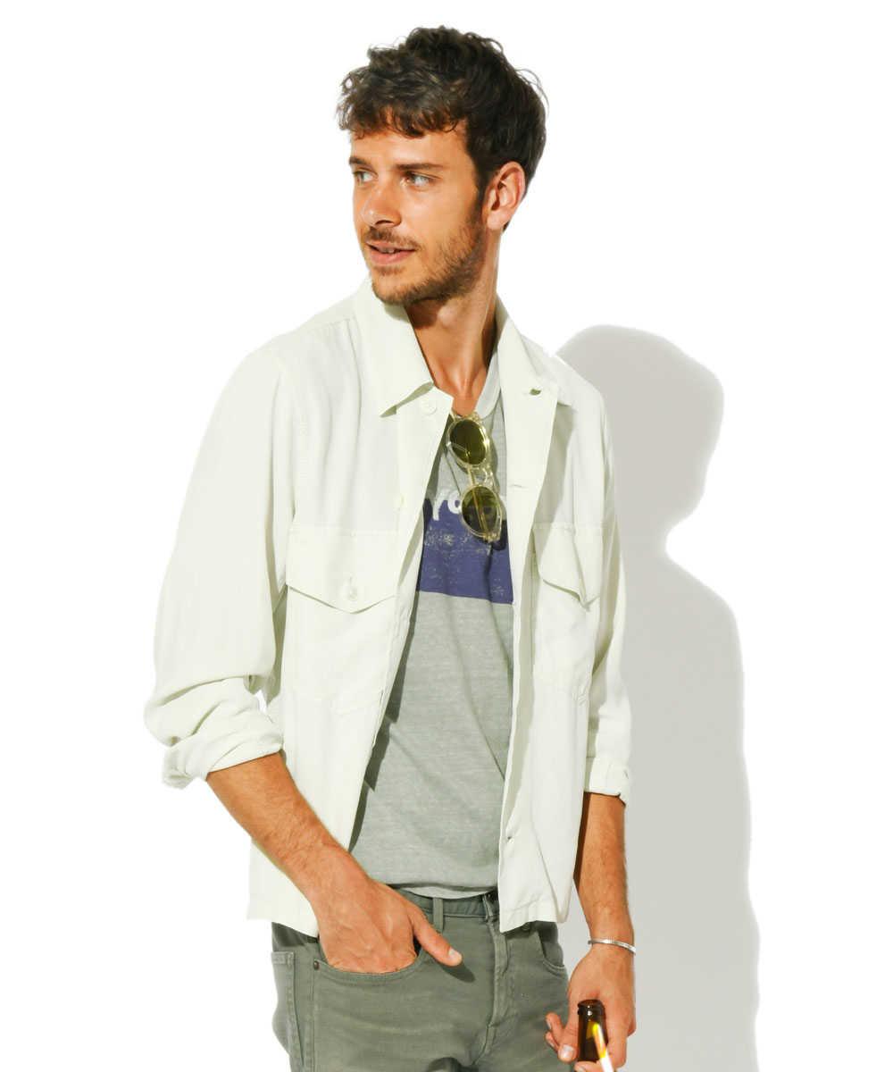 シルクシャツジャケット