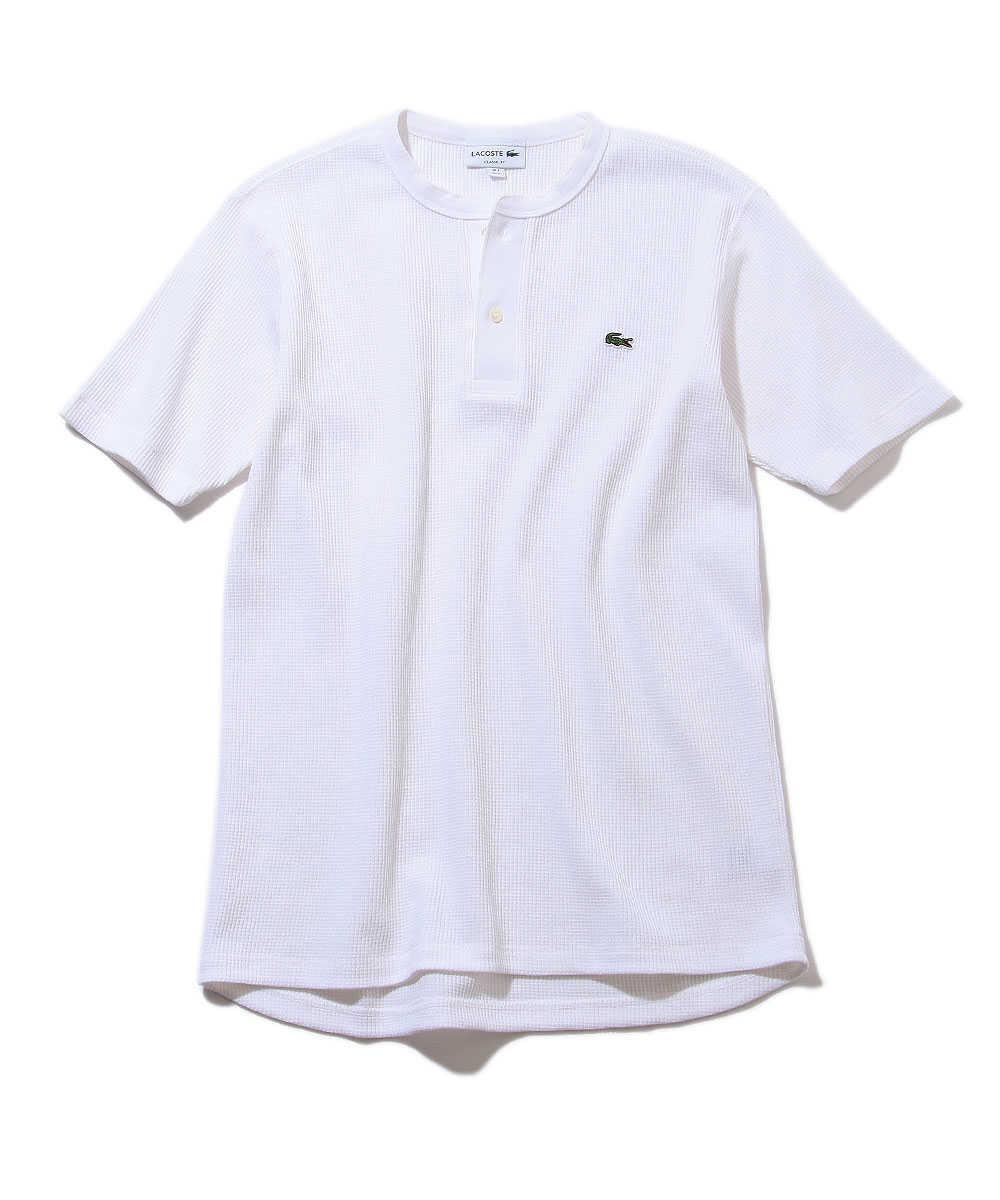 ワッフルヘンリーネックTシャツ