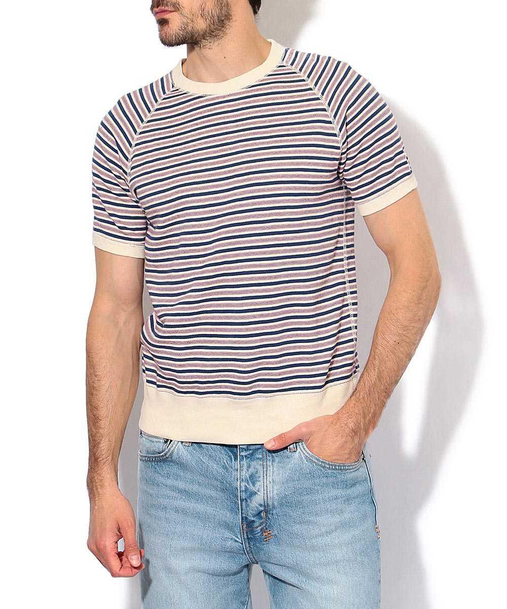 ショートスリーブボーダースウェットシャツ