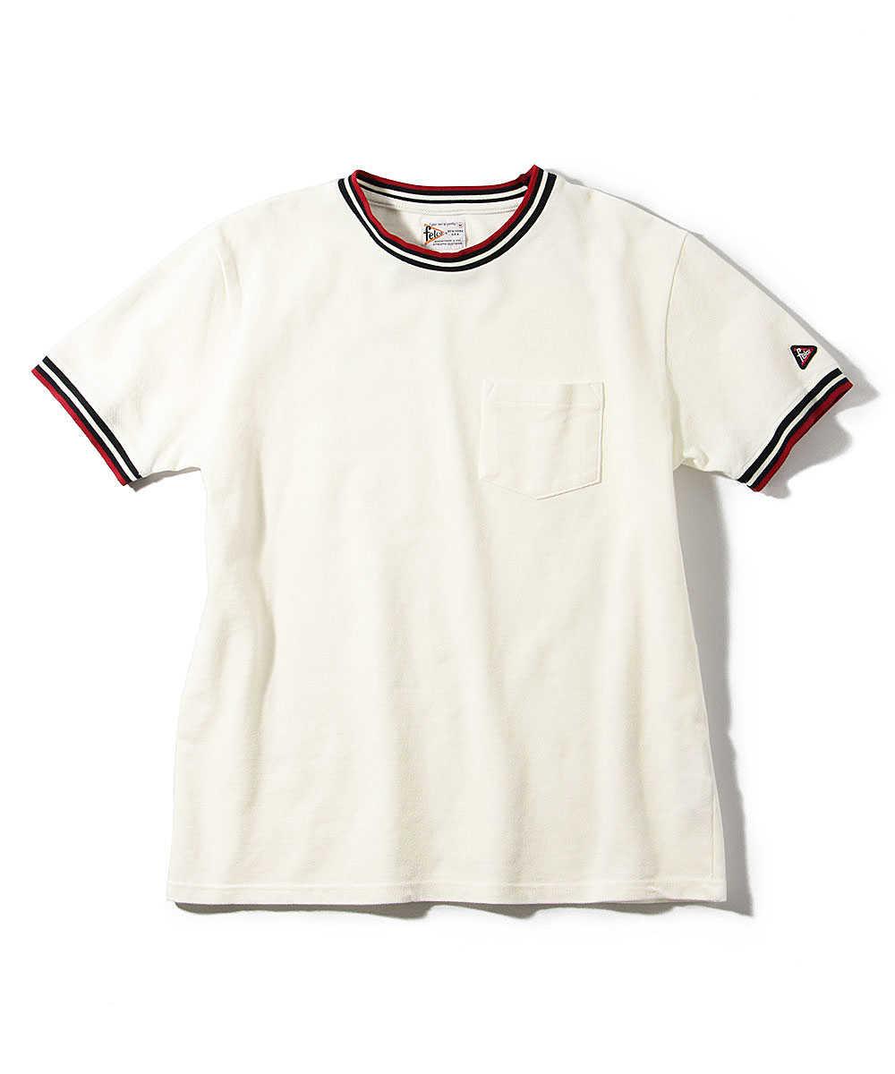 鹿の子ポケットクルーネックTシャツ