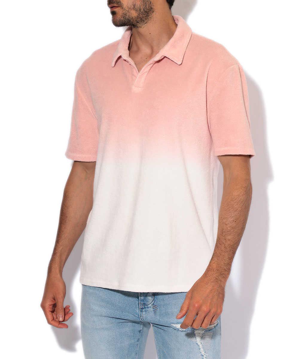 【別注商品】グラデーションパイルポロシャツ