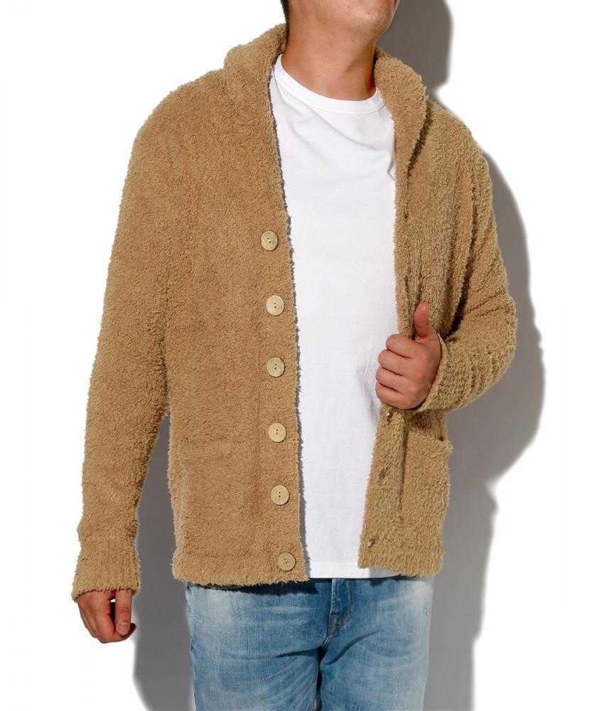 もこもこニットジャケット
