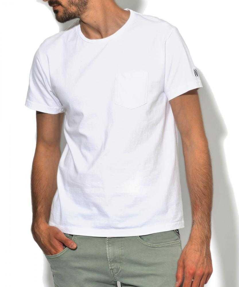 ガーメントダイクルーネックポケットTシャツ