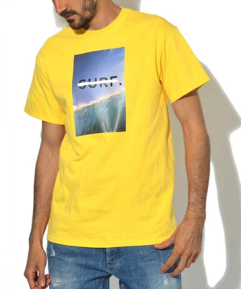 クルーネックフォトプリントTシャツ