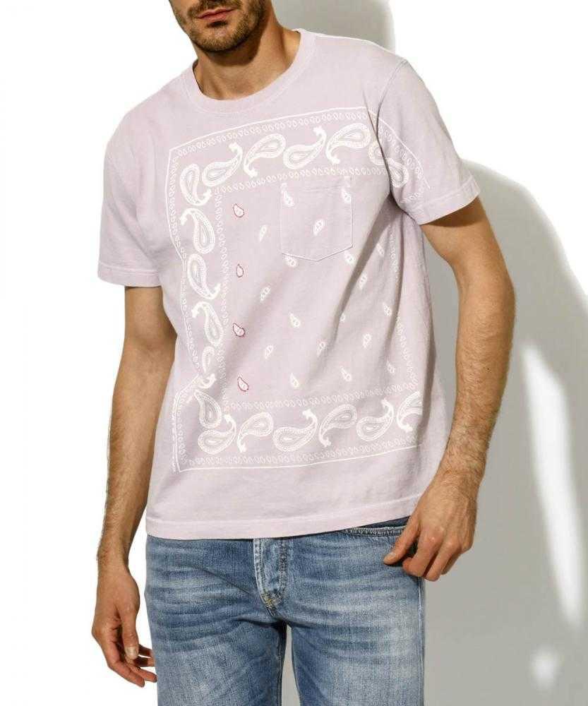 【別注・限定販売商品】プリント刺繍クルーネックポケットTシャツ