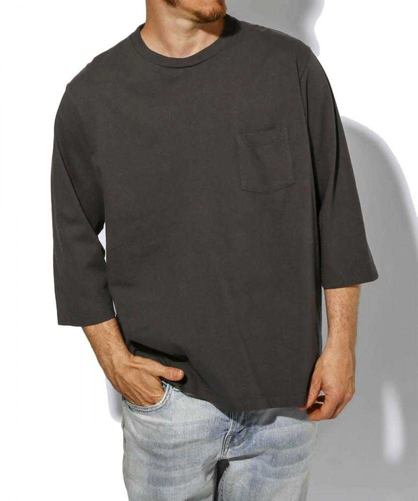 クルーネックポケットTシャツ