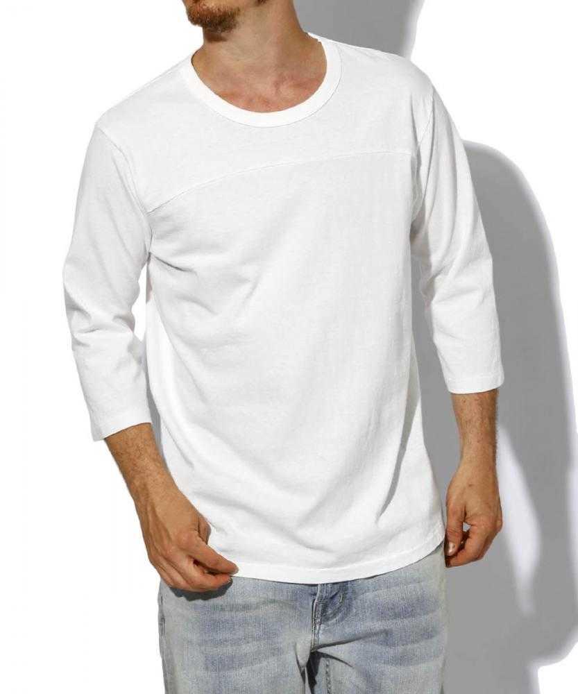 クルーネックベースボールTシャツ