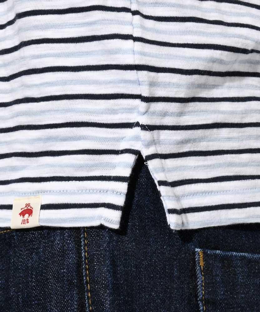 【レッド フリース】マルチカラーボーダーポロシャツ