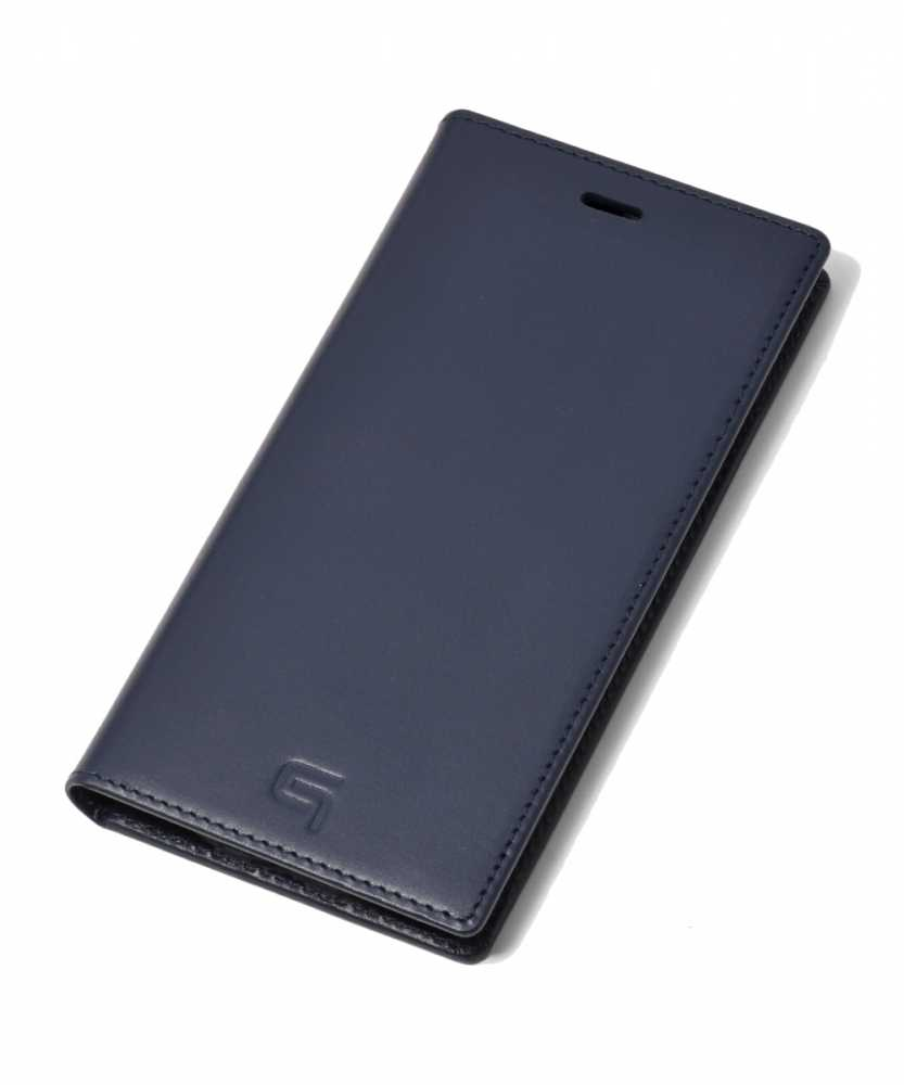 ジャーマン ウォーター グレイン レザーブックケース for iPhone XS