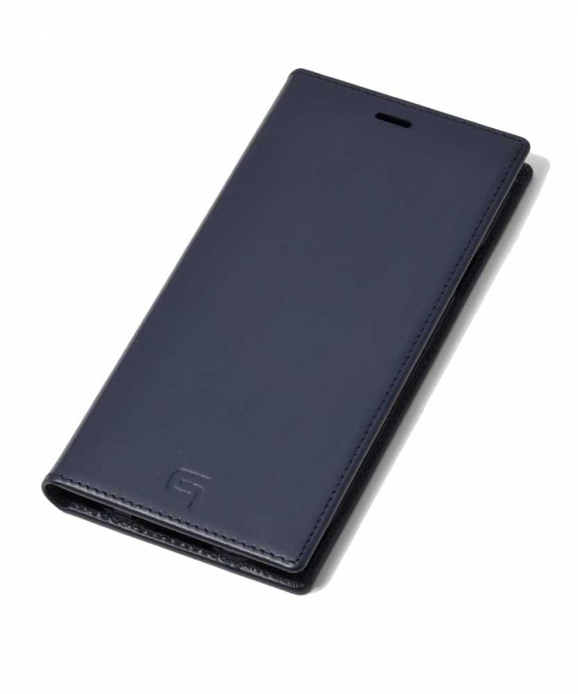 ジャーマン ウォーター グレイン レザーブックケース for iPhone XS Max
