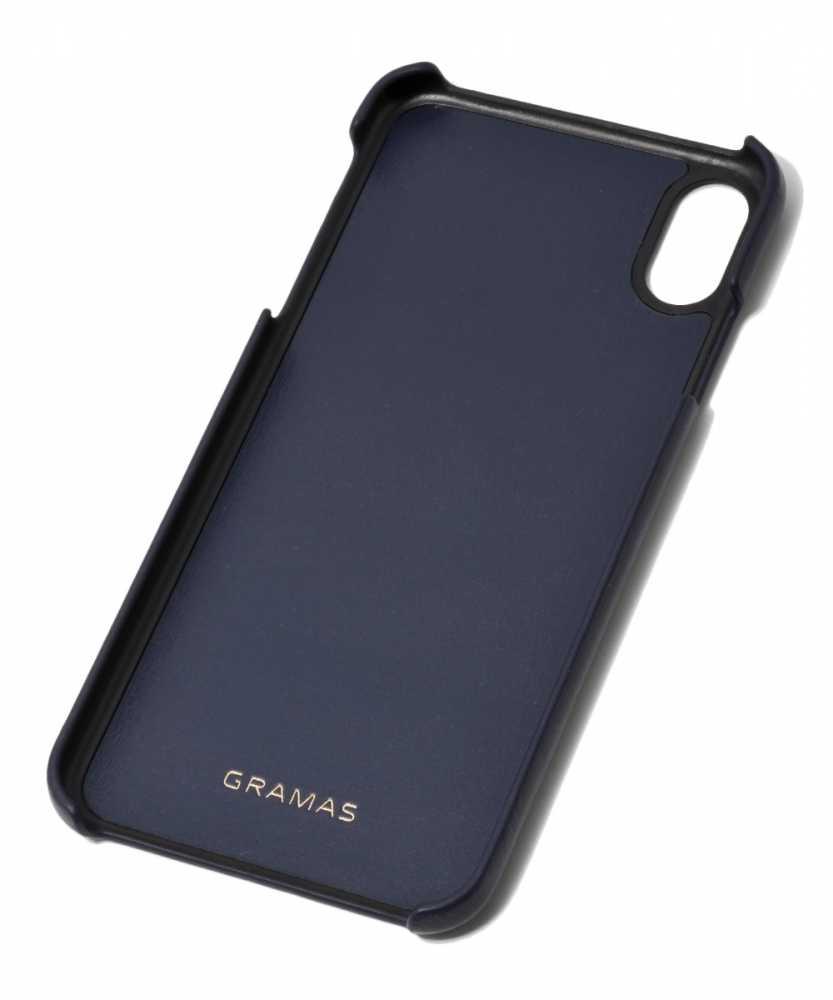 ジャーマン ウォーター グレイン レザーシェルケースfor iPhone XS Max