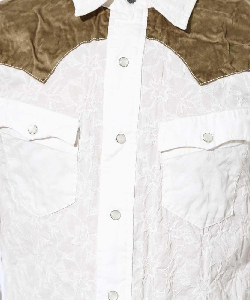 ローン刺繍スリムウエスタンシャツ