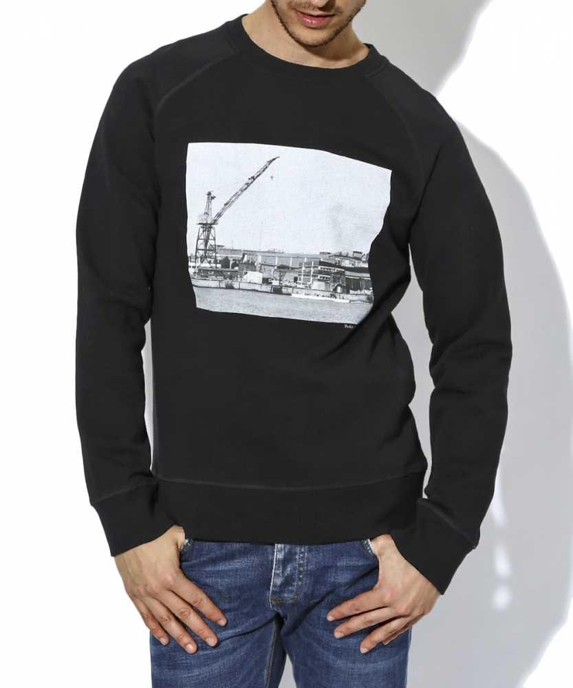 フォトプリントクルーネックスウェットシャツ