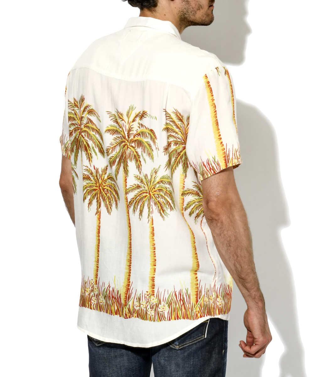 パームツリー柄シャツ
