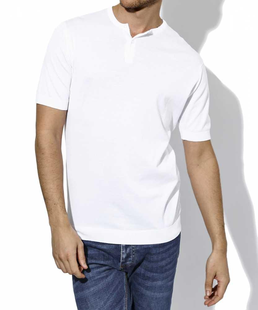 ヘンリーネックニットTシャツ