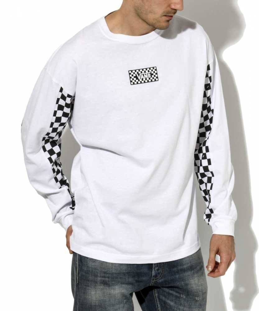 チェッカーロングTシャツ
