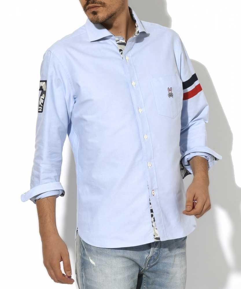 トリコロール袖ラインナンバリングシャツ