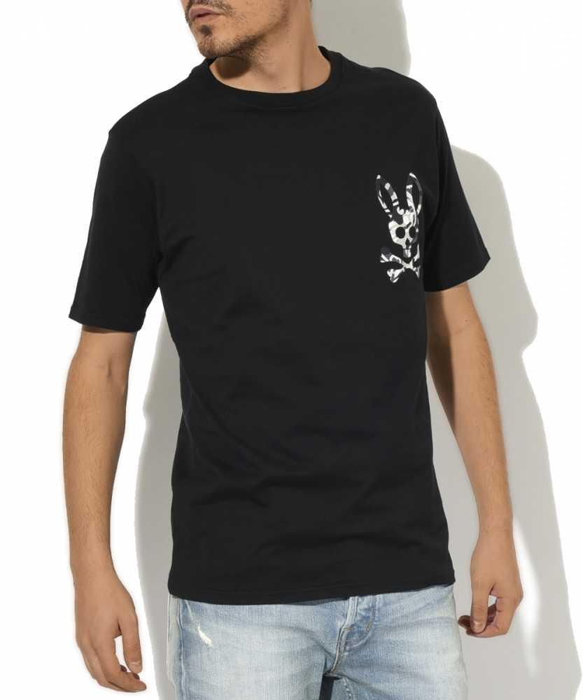 クルーネックヒートカットロゴTシャツ