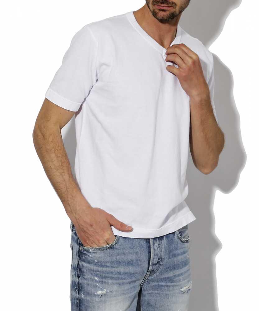 """""""クレープ""""VネックTシャツ"""