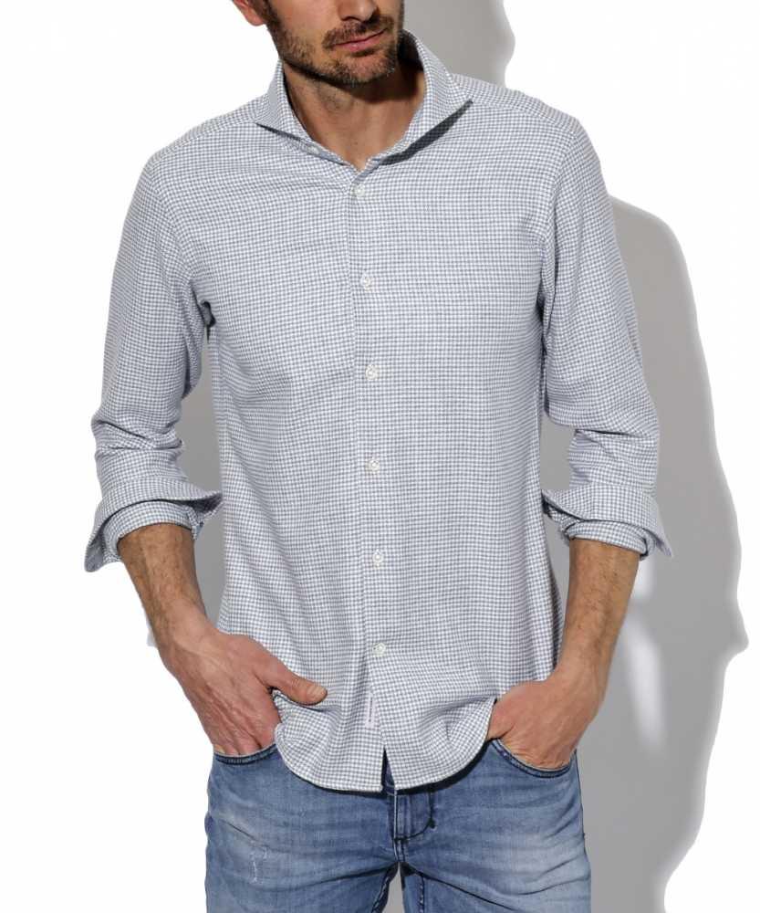 千鳥柄ネルシャツ