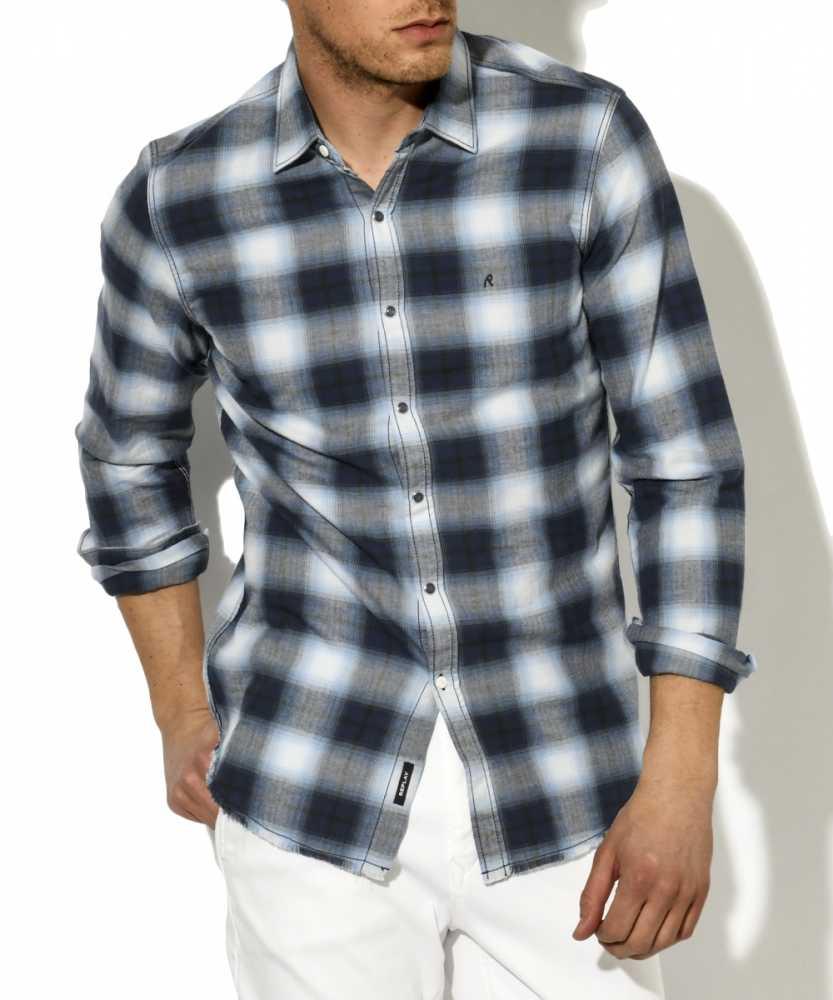 へリンボーンチェックシャツ