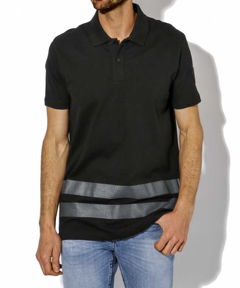 ストライプポロシャツ