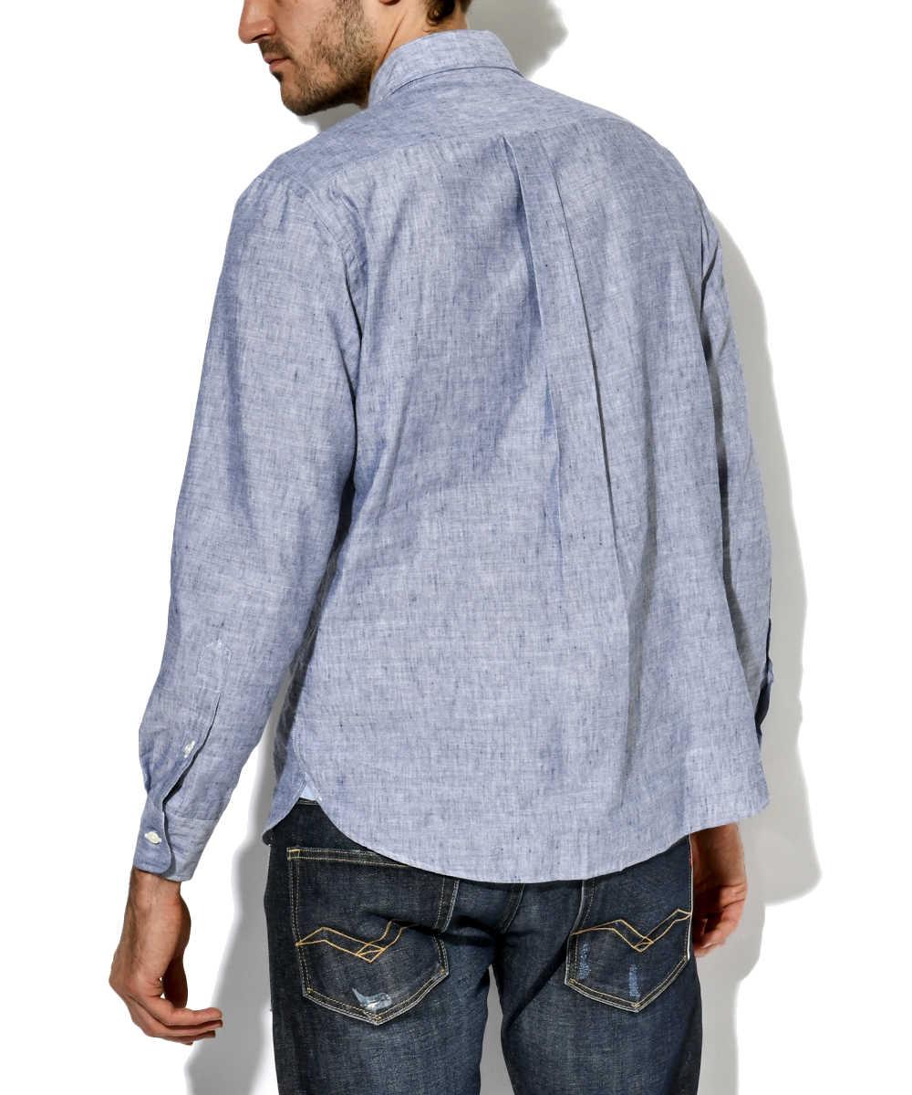 リネンミックスクールシャツ