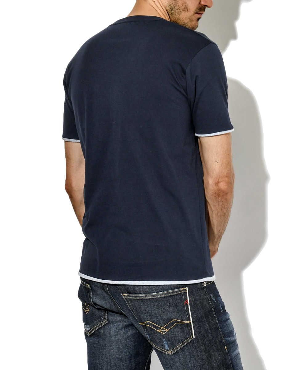 ヘンリーレイヤードTシャツ