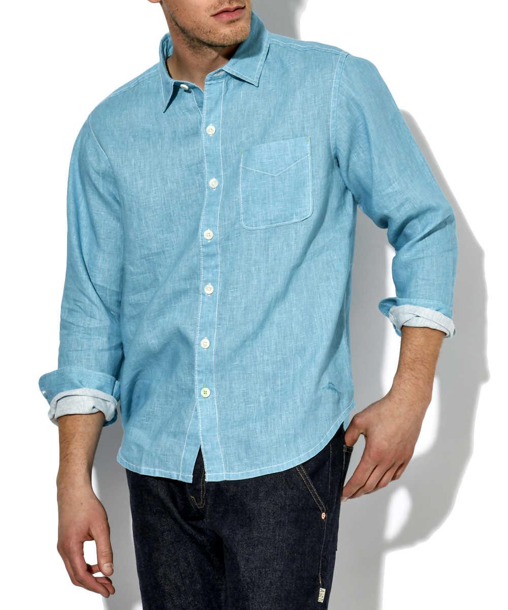リネンカラーシャツ