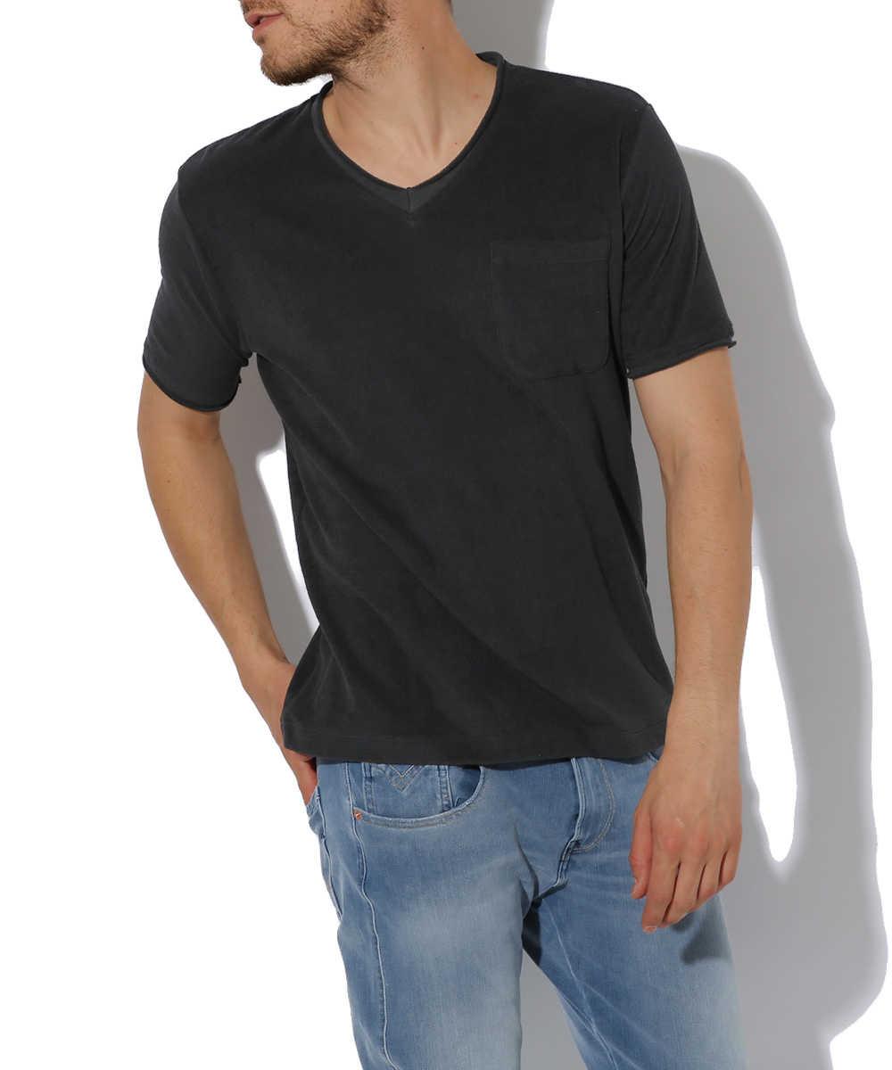 VネックポケットTシャツ