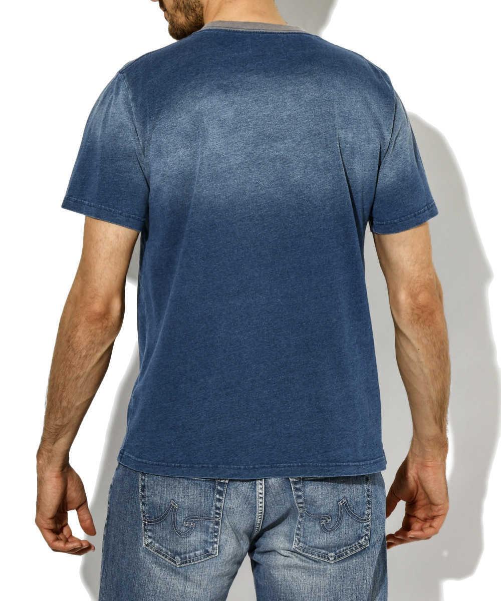 インディゴトリムTシャツ